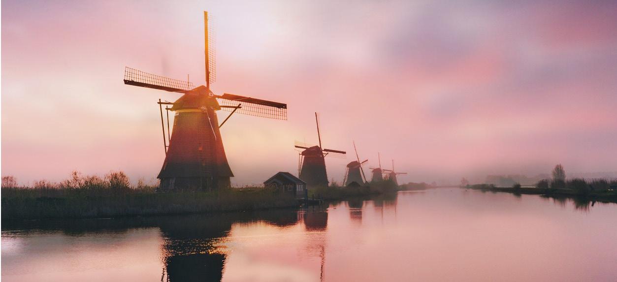 Idyllische Wasserwege Holland und Flandern